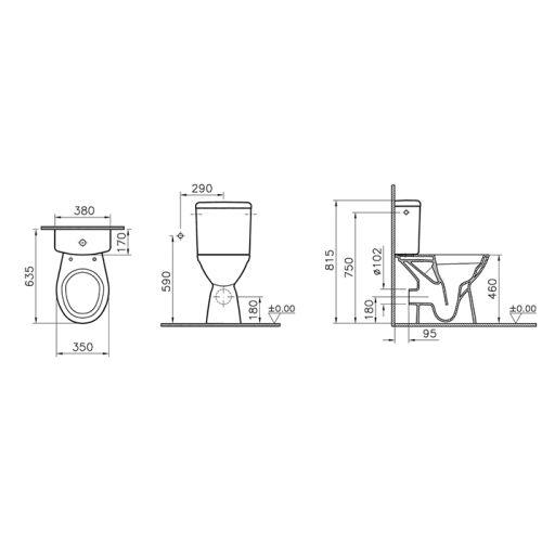Pack WC surélevé PMR Normus - Vitra - 9836B003-7204 pas cher Secondaire 1 L