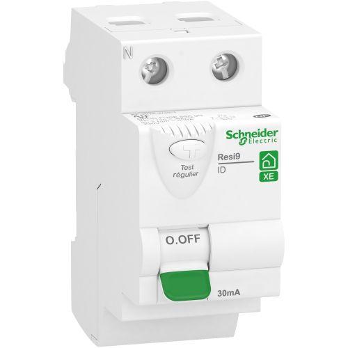 Interrupteur différentiel 2P 63A 30mA Type AC embrochable Resi9 XE - SCHNEIDER ELECTRIC - R9ERA263 pas cher Principale L