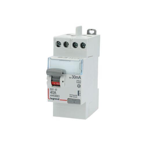Interrupteur différentiel 63A 300mA type AC DX³-ID vis/vis 2P 230V~ départ bas 2 modules - LEGRAND - 411526 pas cher Secondaire 2 L