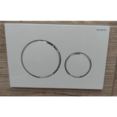 Plaque de déclenchement WC DUOFIX SIGMA 20 blanc/chromé - GEBERIT - 115.882.KJ.1 pas cher Secondaire 1 L