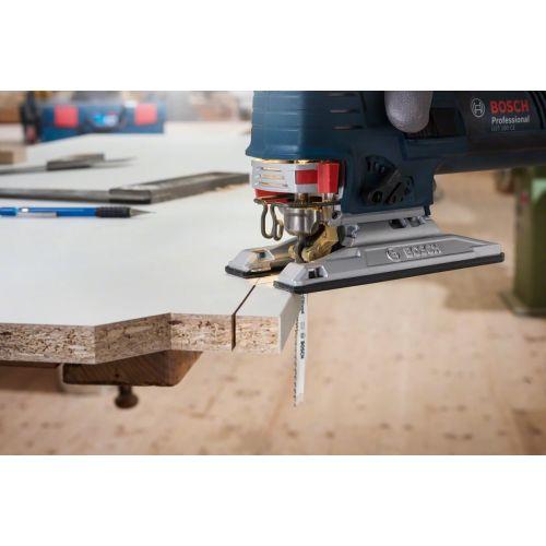 5 lames de scie sauteuse 100 mm HCS T101BR pour le bois - BOSCH - 2608630014 pas cher Secondaire 2 L