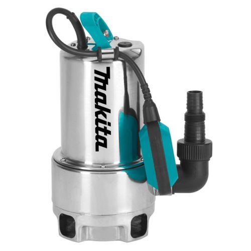Pompe vide-cave à eau chargée 550 W inox - MAKITA - PF0610 pas cher