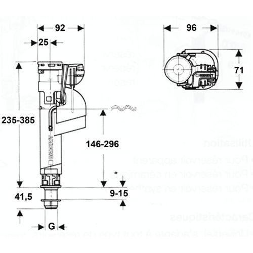 Robinet flotteur Impuls 360 - GEBERIT - 281.214.00.1 pas cher Secondaire 1 L