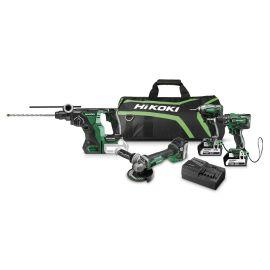 Pack de 4 outils sans-fil Hikoki KC18DG4LWDZ 18 V + 3 batteries 5.0 Ah + chargeur photo du produit