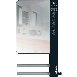Sèche-serviette soufflant + 2 barres + miroir  800W+1000W gris Télia ATLANTIC pas cher