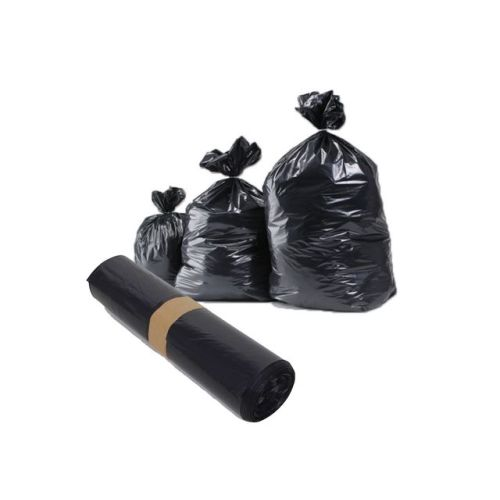 Sacs poubelles noirs PEBD renforcé photo du produit