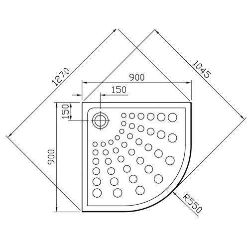 Receveur d'angle 90x90 ARKITECKT antidérapant - VITRA - 5807L003M0578 pas cher Secondaire 1 L