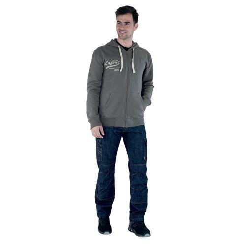 Pantalon de travail homme en jean ALICKI bleu marine taille 40 - LAFONT - LA-1STNJN-6-1-40 pas cher Secondaire 1 L