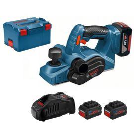 Rabot sans-fil Bosch GHO 18 V-LI + 2 batteries 5,5 Ah Procore + chargeur + coffret L-BOXX pas cher Principale M