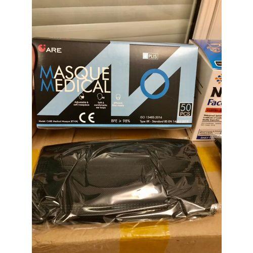 Masque respiratoire jetable 4 plis Type II R CE EN 14683 ARE. photo du produit