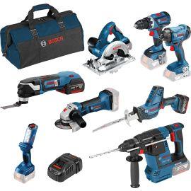 Set de 8 outils 18 V dans sac à outils photo du produit