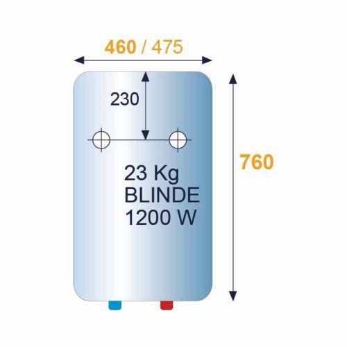 Chauffe-eau 150L vertical mural blindé monophasé - CHAFFOTEAUX - 3000576 pas cher Secondaire 2 L