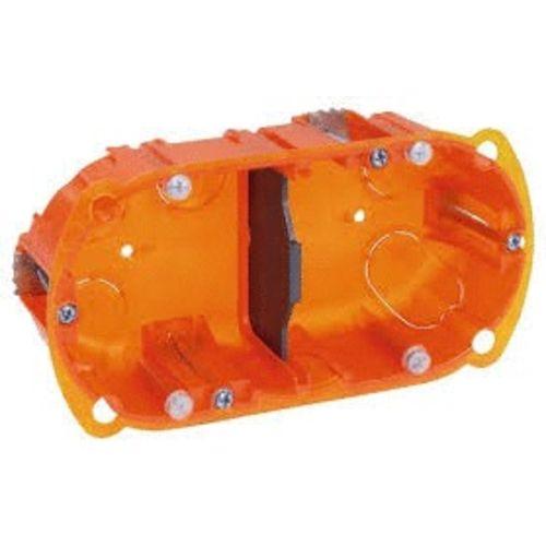 Boîte d'encastrement multi-matériaux 2 postes 40mm - LEGRAND - 080102 pas cher Principale L