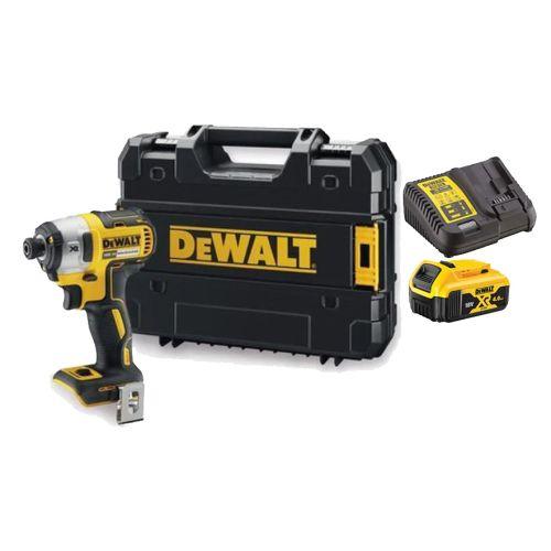 Visseuse à chocs sans-fil XR Brushless Dewalt DCF887NT 18 V + 2 batteries 4 Ah + chargeur + T-stak photo du produit