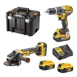 Pack de 2 outils Dewalt DCK2080P2T (DCD796 - DCG405) 18 V + 2 batteries 5 Ah + chargeur + Tstak pas cher