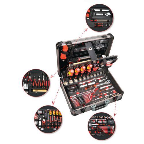 Mallette de 121 outils professionnels - HANGER - 251009 pas cher Secondaire 1 L