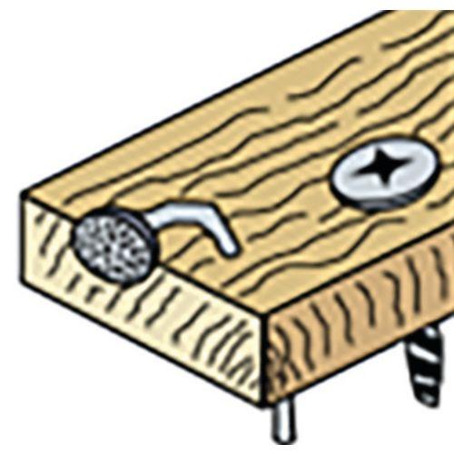 2 lames pour scie sabre (MBM22506BI) - HANGER - 150311 pas cher Secondaire 3 L