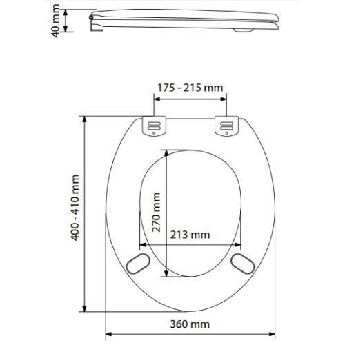 Abattant WC Compact blanc - OLFA - 7EU00010306B pas cher Secondaire 1 L