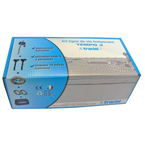 Kit ligne de vie provisoire TEMPO 3 V2 photo du produit