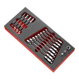 Module mousse Facom 12 clés mixtes à cliquet articulées métriques MODM.467BFJ12 pas cher