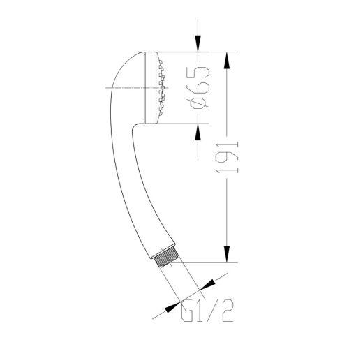 Douchette monojet - GARIS - H03-DCHTMJ pas cher Secondaire 1 L