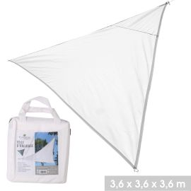 Toile d'ombrage triangle en polyester 3,6 x 3,6 x 3,6 m pas cher
