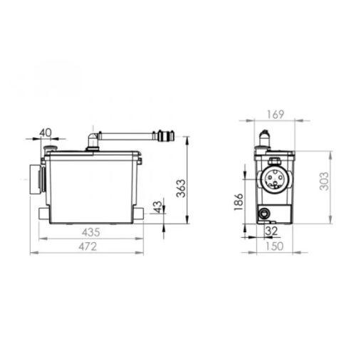 Broyeur WC SFA Sanipack Pro UP photo du produit Secondaire 1 L