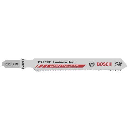 3 lames de scie sauteuse 92 mm pour parquets et stratifiés T128BHM - BOSCH - 2608665073 pas cher