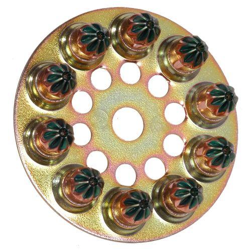 Cartouche de disques de 10 charges 6,3/10 verts - SPIT - 031600 pas cher Principale L