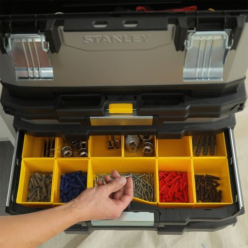 Servante d'atelier FATMAX 63L - STANLEY - 1-95-622 pas cher Secondaire 3 L