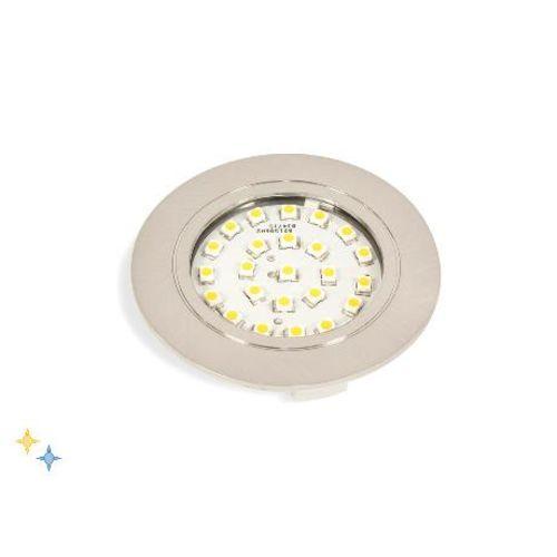 Spot CRUX-IN LED 1,8W 230V nickel satiné photo du produit