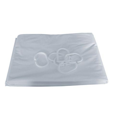 Rideau de douche Pellet PVC blanc photo du produit Secondaire 2 L