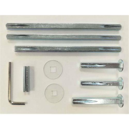 Kit béquille aluminium Héraclès Salomé pour serrure en applique photo du produit Secondaire 4 L