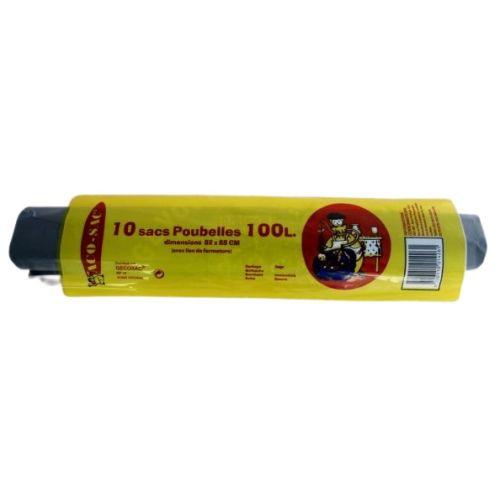 Sacs poubelles NF ENVIRONNEMENT 100 L pochette de 10 sacs - GECOSAC - 258 pas cher Principale L