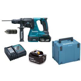 Perforateur-burineur sans-fil Makita SDS-Plus DHR243RTJ 18 V + 2 batteries 5 Ah + chargeur + Makpac photo du produit Principale M
