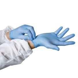 Boîte de 100 gants nitrile poudrés jetables pas cher