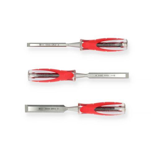 Set de 3 ciseaux à bois XPRO 10-15-20 mm - HANGER - 110590 pas cher