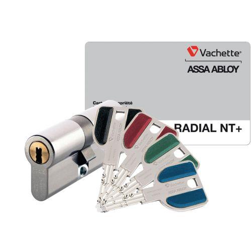 Cylindre 32,5x32,5 mm Radialis NT+ A2P2* livré avec 4 clés - VACHETTE - 27482000 pas cher Principale L