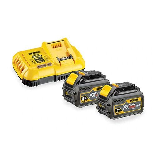 Pack de 2 batteries XR Flexvolt 18 V / 54 V 6 Ah / 2 Ah Li-ion Dewalt + chargeur rapide DCB118T2 photo du produit
