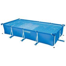 Piscine tubulaire Métal Frame Junior rectangulaire bleue 450 x 220 x 84 cm - INTEX - 28274FR pas cher
