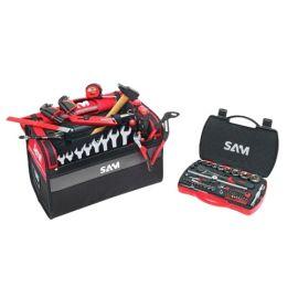 Caisse à outils textile 30 L + 100 outils de maintenance Sam outillage CP-100-BAG2NZ photo du produit Principale M