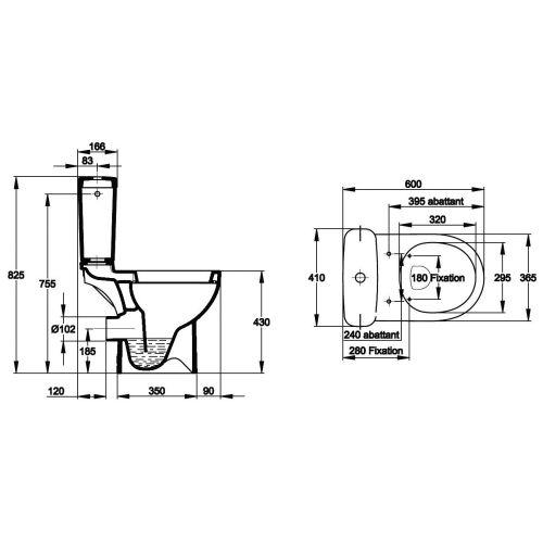 PACK WC ODEON COMPACT BLC photo du produit Secondaire 1 L