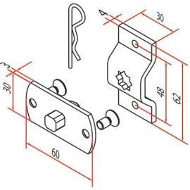 Kit support carré 10mm pour moteurs d45 photo du produit