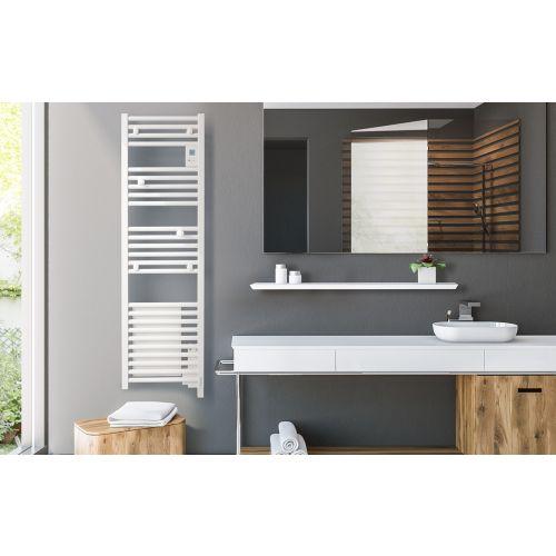 Radiateur sèche-serviettes Doris digital sans ventilo étroit 0300W blanc - ATLANTIC -851134 pas cher Secondaire 2 L