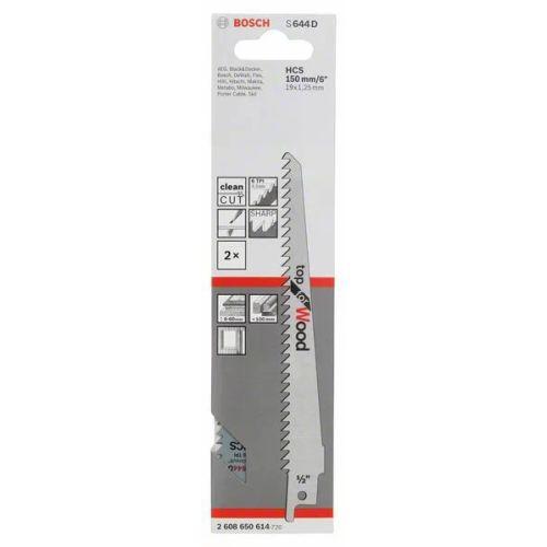 2 lames de scie sabre 150 mm S644D pour le bois - BOSCH - 2608650614 pas cher Secondaire 1 L