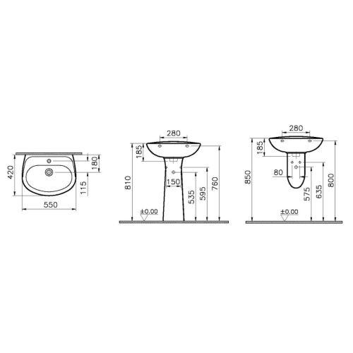 Lavabo gamme Vitra Normus photo du produit Secondaire 4 L