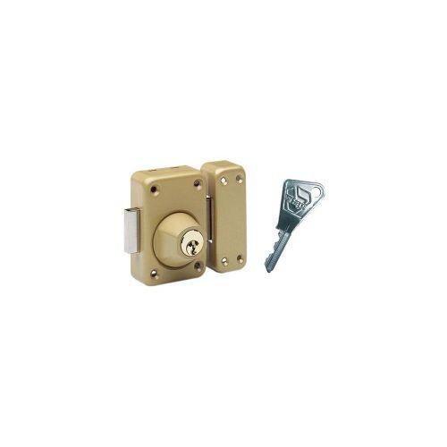 Verrou de sûreté V136 2 entrées cyclop 3 clés Cannon de 60mm - VACHETTE - 16152000 pas cher Principale L