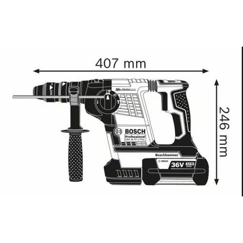 Perforateur sans-fil SDS plus Bosch GBH 36 VF-LI Plus Professional photo du produit Secondaire 5 L