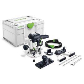 Défonceuse Festool OF 1010 EBQ-Plus 1010 W + coffret Systainer Sys3 M 237 + accessoires pas cher