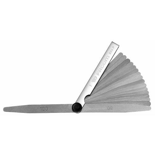 Jauge d'epaisseur métrique - 19 lamelles à bouts pontus longeur 90 mm - FACOM - 804.P pas cher Principale L